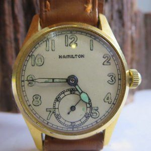 WW2 Hamilton Military Issue Mens Winding Watch